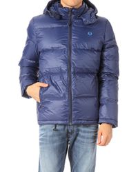 Fred Perry Quilted Jacket - Lyst