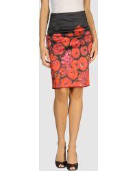 Isaac Mizrahi Knee Length Skirt - Lyst