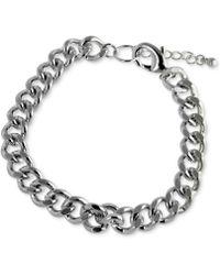 Marc Ecko - Silvertone Link Bracelet - Lyst