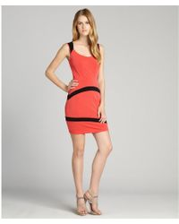 Marc New York Coral And Black Colorblocked Sleeveless Dress - Lyst