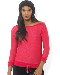 Lauren by Ralph Lauren Petite Three-Quarter-Sleeve French-Terry Sweatshirt - Lyst