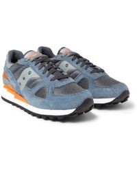 Saucony Shadow Original Suede and Mesh Sneakers - Lyst