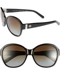 Tory Burch 57Mm Round Sunglasses - Lyst