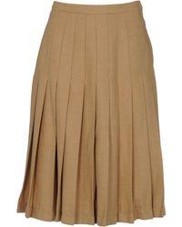 Valentino 3/4 Length Skirt beige - Lyst