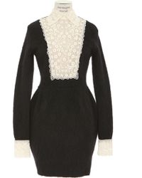 Valentino  Long Sleeves Stretch Boiled Knit Dress - Lyst