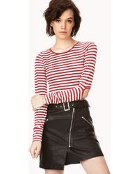 Forever 21 Shore Thing Crop Top red - Lyst