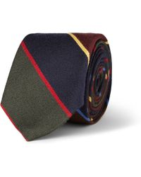 J.Crew | Striped Wool and Silkblend Tie | Lyst