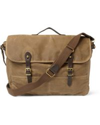 J.Crew - Abingdon Waxed Cottoncanvas and Leather Messenger Bag - Lyst