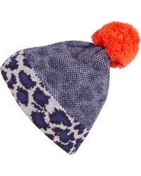 Marc By Marc Jacobs - Purple Leopard Bobble Hat - Lyst
