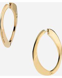 MICHAEL Michael Kors Michael Kors Curb Link Hoop Earrings - Lyst