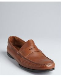 Tod's Light Brown Leather New Brooklyn Penny Loafers - Lyst