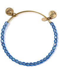 ALEX AND ANI - Beaded Expandable Wire Bangle - Lyst