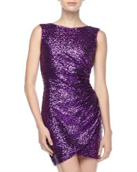 Ali Ro Sequined Dippedback Dress - Lyst