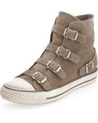 Ash Virgin Buckled Suede Sneaker - Lyst