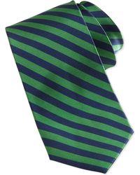 Burma Bibas - Bias Stripe Skinny Silk Tie Green - Lyst