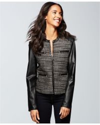 Ellen Tracy Faux Leather Jacket - Lyst