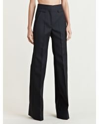 Givenchy Womens High Waisted Wide Leg Pants - Lyst