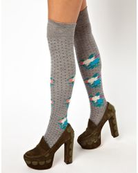 Eley Kishimoto - Doily Floral Dot Over The Knee Socks - Lyst