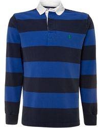 Polo Ralph Lauren Striped Custom Fit Rugby Top - Lyst