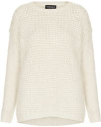 Topshop Knitted Stitch Fluffy Jumper - Lyst