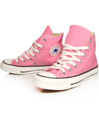 Converse Pink Chuck Taylor All Star Hi Top Trainers - Lyst