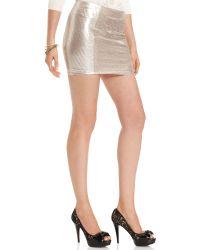 Guess Skirt Metallic Floral Mini - Lyst