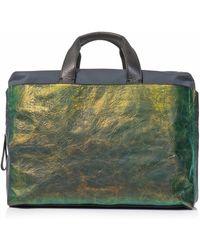 Lanvin - Iridescent Leather Commuting Bag - Lyst