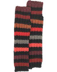 Sonia Rykiel - Mesh Striped Wool Fingerless Gloves - Lyst