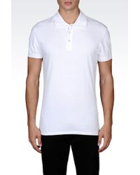 Armani Jeans Classic Polo Shirt In Cotton Pique - Lyst