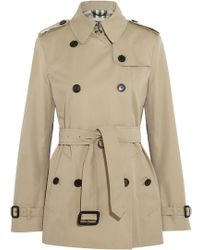 Burberry London Short Cotton-Twill Trench Coat - Lyst