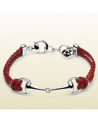 Gucci Leather Bracelet with Horsebit - Lyst