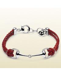 Gucci Leather Bracelet with Horsebit - Lyst