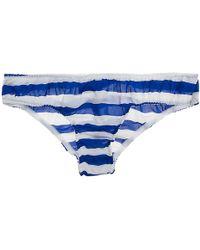 La Fee Verte - Silk Stripe Panty - Lyst