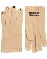 Boutique Moschino - Moschino Cheap and Chic Motif Gloves - Lyst