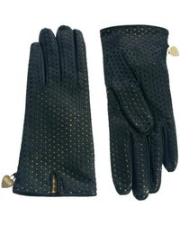 Boutique Moschino - Cheap and Chic Nappa Perforated Gloves - Lyst