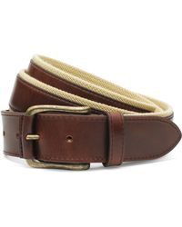 Brooks Brothers - Leather Boat Shoe Belt - Lyst