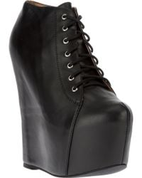Jeffrey Campbell Lea Wedge Boot - Lyst