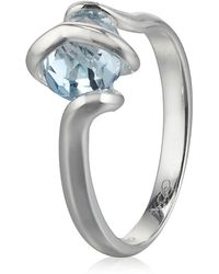 Links of London - Silver Entwine Ring with Topaz - Lyst