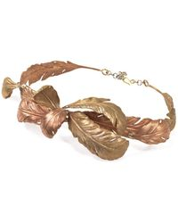 Giambattista Valli - Leaf Detail Metal Waist Belt - Lyst
