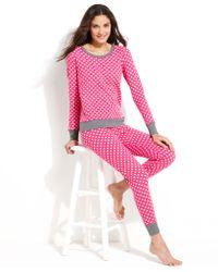 Kensie - A Deer Top and Pyjama Trousers Set - Lyst