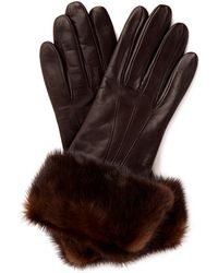 Maison Fabre Mink Fur Cuff Leather Gloves - Lyst