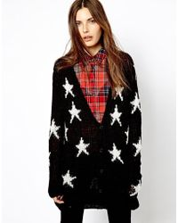 Mango - Star Knit Cardigan - Lyst