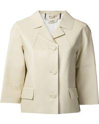 Marni Leather Swing Jacket - Lyst