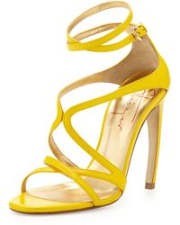 Walter Steiger Strappy Leather Convexheel Sandal - Lyst