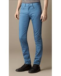 Burberry Shoreditch Piece-Dyed Skinny Fit Jeans - Lyst