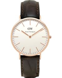 Daniel Wellington Classic York Watch gray - Lyst