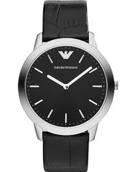 Emporio Armani Ar1741 Silver-Toned Snake-Embossed Watch - Lyst