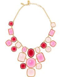Kate Spade - Microfacet 12ct Goldplated Chunky Necklace - Lyst