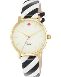 Kate Spade Metro Goldplated Metal and Leather Watch Mixed - Lyst