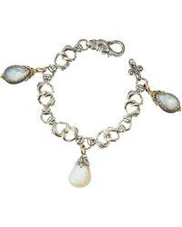 Konstantino Three Mother Of Pearl Charm Bracelet - Lyst